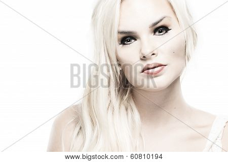 High Key Portrait Of A Classic Blond Beauty