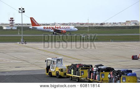 Easyjet Airplane Ready For Take Off