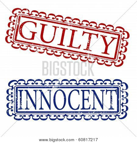 Guilty and Innocent Stamp