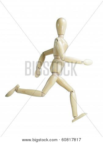 Running Wood Puppet