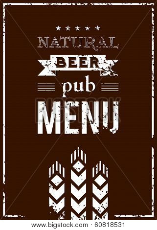 Vector beer menu for the pub
