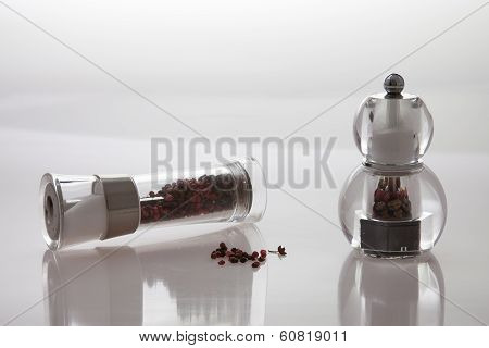 Two Grinders With Pepper And Salt