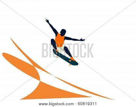 Vector of skater