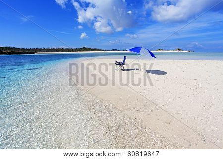 Blue sky and beautiful beach