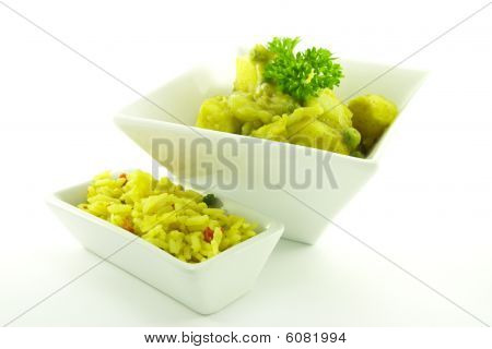 Curry In A White Bowl