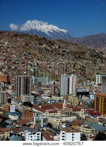 Modern city centre of La Paz