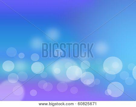 Abstract Blue Circular Bokeh Background