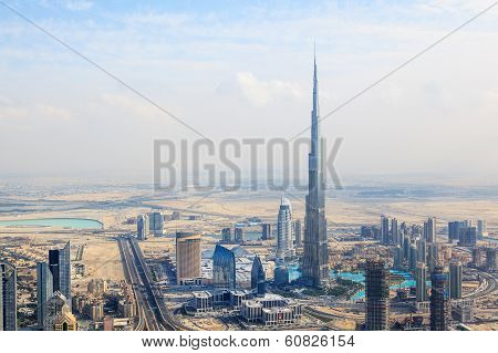 View At Sheikh Zayed Road Skyscrapers In Dubai