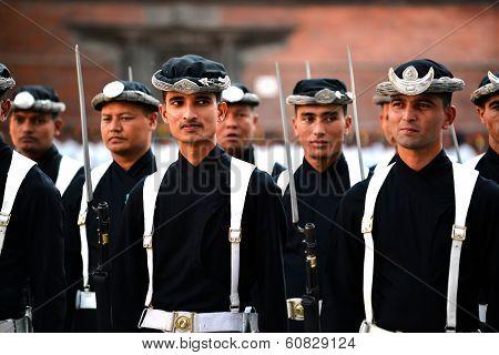 Nepali Royal Army In Kathmandu
