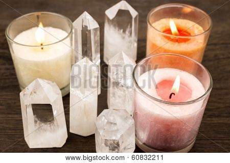 Crystals and candles