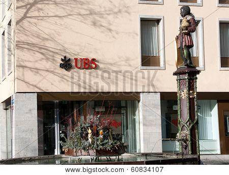 Swiss UBS bank building