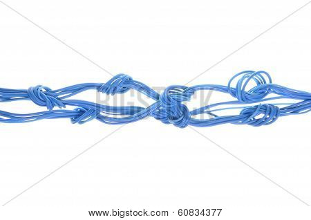 Computer network cables with knots
