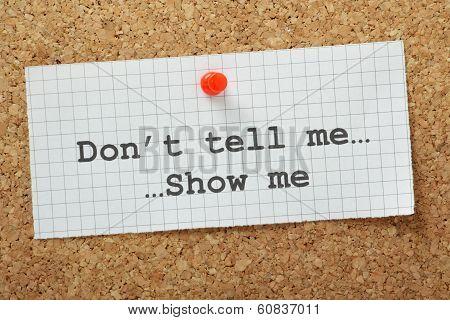 Show versus Tell