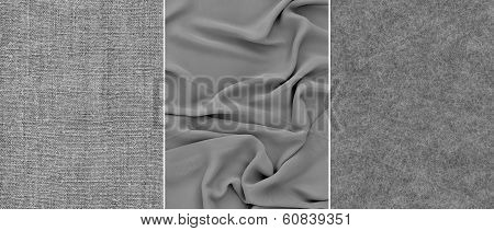 Set grey fabric