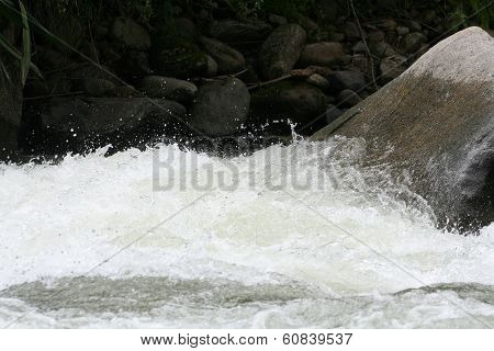 Whitewater on Rocks
