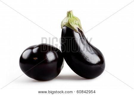 Two Eggplant Isolated