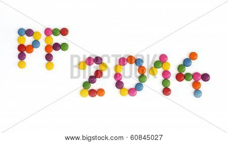 The Title Pf 2014 Written Of The Colored Candies