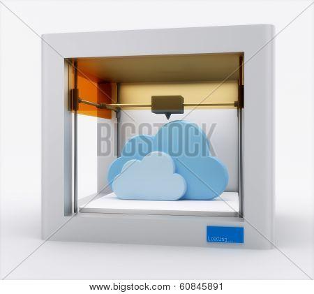 3d printer, printing cloud.