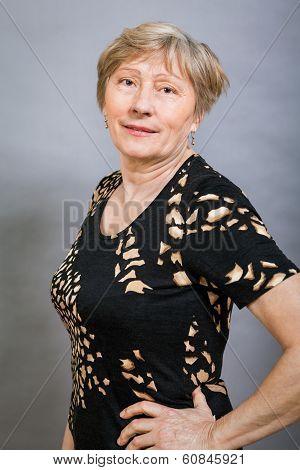 Vivacious Happy Senior Woman