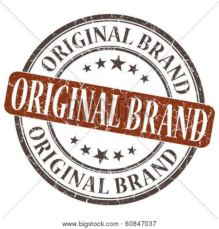 Original Brand Grunge Round Stamp On White Background