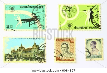 Old art Stamps Of Thailand