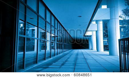 Architecture in blue