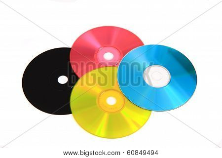 Cd Or Dvd As Cmyk Color Model