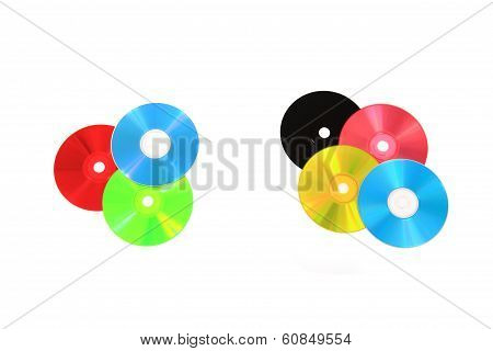 Cd Or Dvd As Rgb And Cmyk Color Model