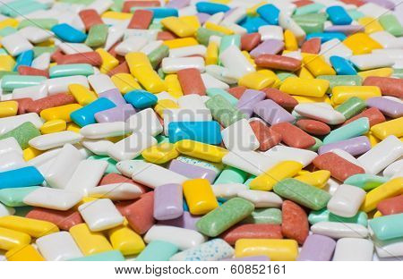 Colourful Chewing Gum Texture