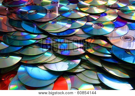Color Cd And Dvd Background