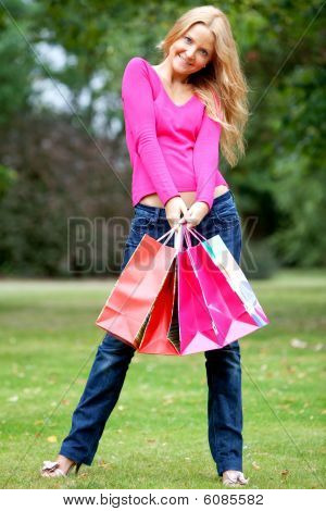 Shopping Woman Outdoors
