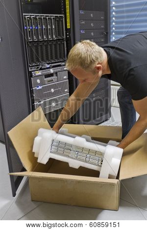 IT Engineer Installing New Router