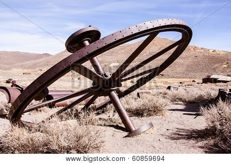 Large metal wheel