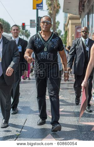 Ray Parker Jr Walking On The Hollywood Walk Of Fame
