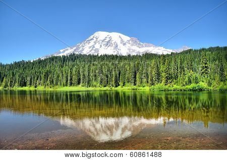 Reflection Lake near Mount Rainier