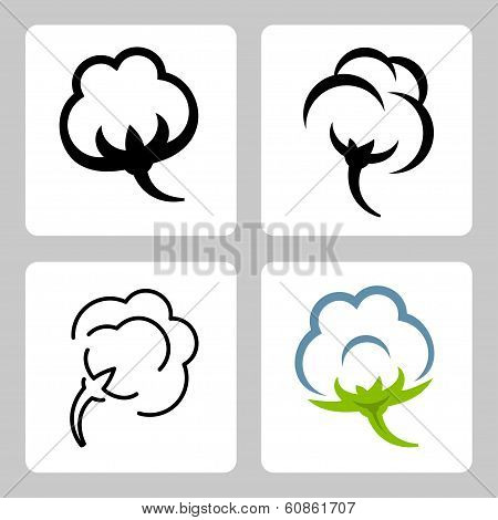 Vector Cotton Icons Set
