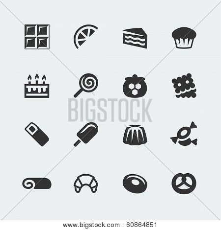 Vector Sweets Mini Icons Set