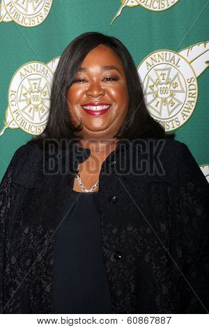 LOS ANGELES - FEB 28:  Shonda Rhimes at the 2014 Publicist Luncheon at Beverly Wilshire Hotel on February 28, 2014 in Beverly Hills, CA