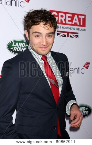 LOS ANGELES - FEB 28:  Ed Westwick at the 2014 GREAT British Oscar Reception at The British Residence on February 28, 2014 in Los Angeles, CA