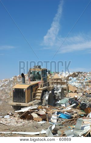 Burying Trash
