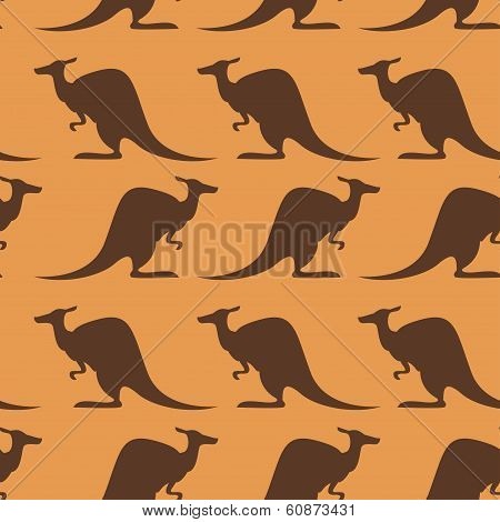 Seamless pattern with kangaroo