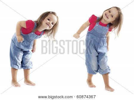 Smiling Dancing Toddler Girl - Stock Image