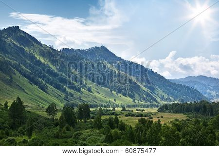 mountain in Altay republic in Russia