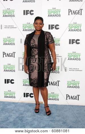 LOS ANGELES - MAR 1:  Octavia Spencer at the Film Independent Spirit Awards at Tent on the Beach on March 1, 2014 in Santa Monica, CA