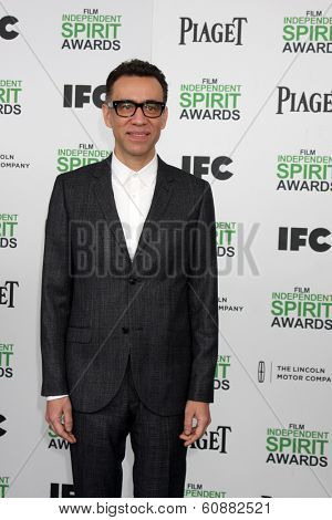 LOS ANGELES - MAR 1:  Fred Armisen at the Film Independent Spirit Awards at Tent on the Beach on March 1, 2014 in Santa Monica, CA