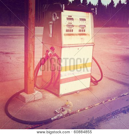 Old Gas pump with instagram effect