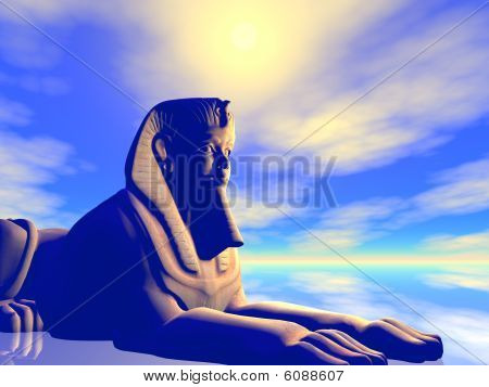 An Illustration Of An Ancient Egyptian Statue