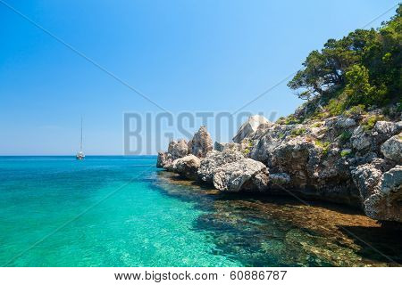 Cala Luna cove at Gulf of Orosei in Sardinia