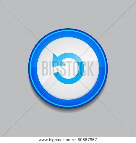 Reset Circular Vector Blue Web Icon Button