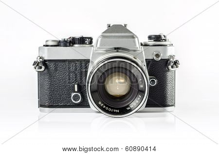 retro photo camera isolated on white